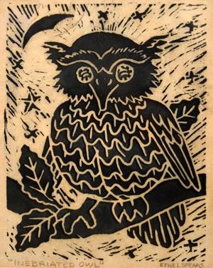 Inebriated Owl, c. 1940s