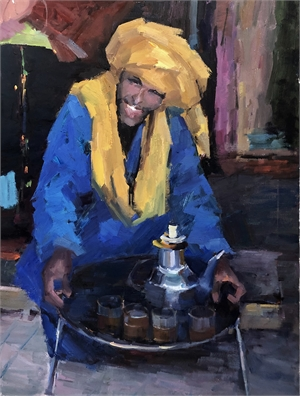 "LILY BRAFF, ""Afternoon Tea in Morocco"""
