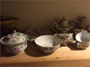 CANTON FR 16 PIECE PART TEA SERVICE, Chinese, 18th century