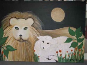 SOLD 'Lion and Lamb'