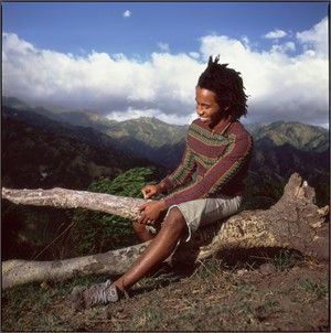 88011 Ziggy Marley Seated on the Mountain Color, 1988