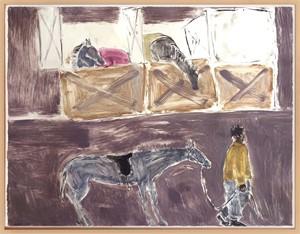 Barn, Horses, Groom