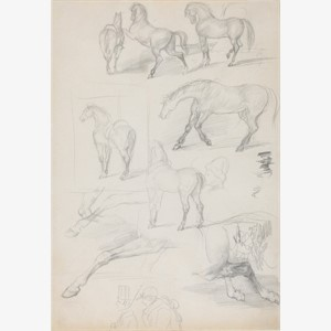 Studies of Horses and Riders, circa 1862 - 64
