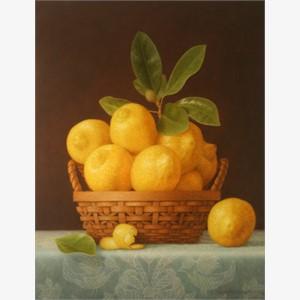 Lemons & Blue Cloth