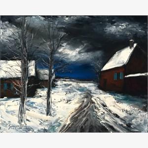 Farmhouse Under Snow (AP)