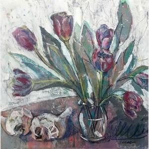 Winter Tulips and Seashells