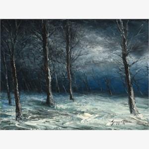 Merlins Road Under Snow (AP)