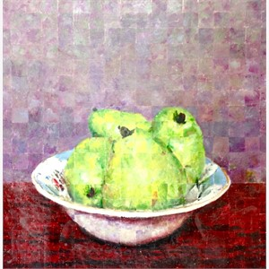 Pears In An Antique Bowl, 2018