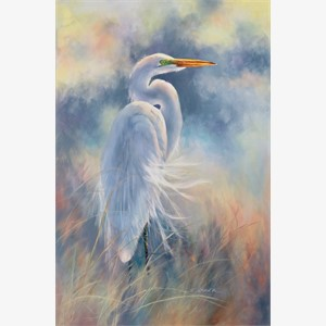 Great Egret in Breeze, 2018