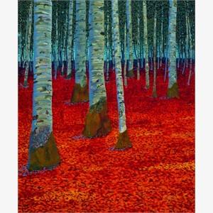 Autumn Birches IV