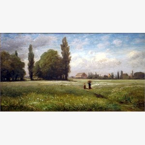 Carl Peter Burnitz - Field with Two Farmers