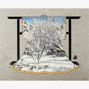 Trees On Snowy Hillside (Landscape)