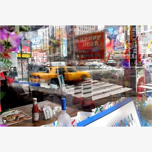 View From The Corner Table of Howard Johnson's, from the TIMES SQUARE NOW series, 2004