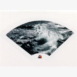 B/W Fan - Crashing Surf