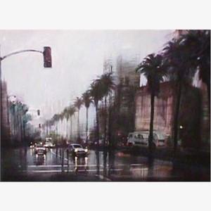 Rainy Day on Wilshire, 2000