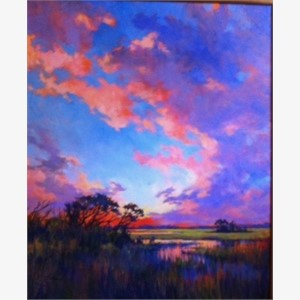 Coastal Marsh Sunset