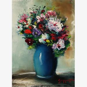 Blue Vase Bouquet , 2016