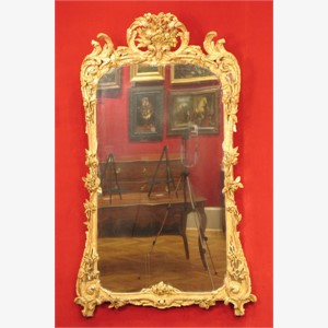 Pier Mirror, French, Period Louis XV, Middle 18th Century