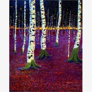 Birches at Rest III