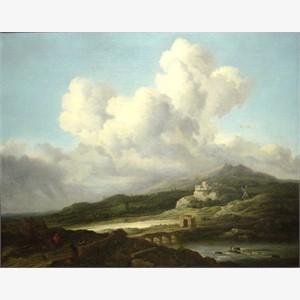 Follower of Jacob van Ruisdael - A Ray of Sunlight