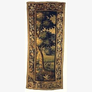 Aubusson Tapestry, French, early 18th century, foliage and flowers