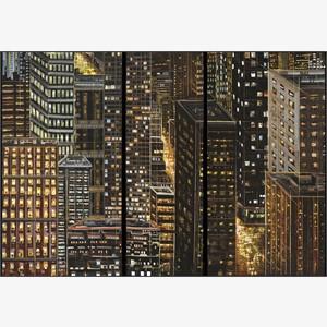 City Darshan 11 - triptych