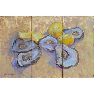 Oysters on Gold 1,2,&3 (Triptych)