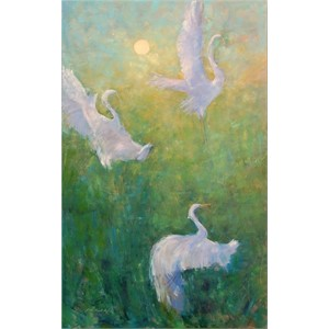 Ascent of the Great Egret I