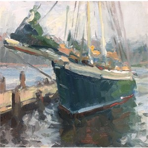 Docked Schooner