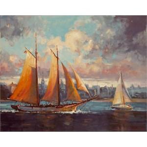 Sailing Along Charleston Harbor