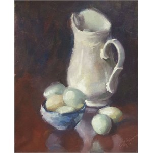 Still Life with Blue Eggs