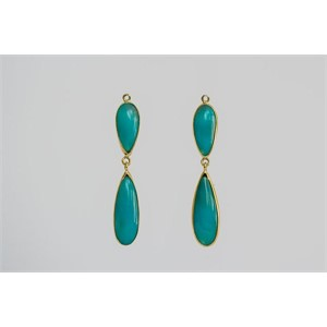 Double Drop Chrysocolla Drops