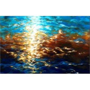 Amber Light Aqua Sea