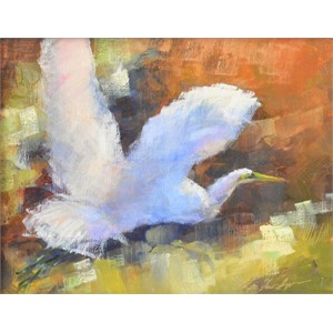 Great Egret in Fall