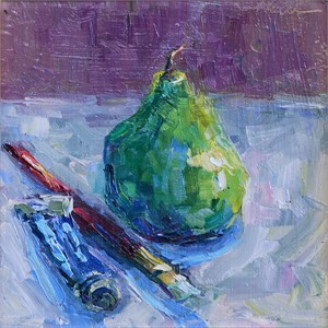 Kings Blue with Pear and Brush
