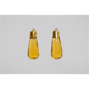 Faceted Teardrop Citrine Drops