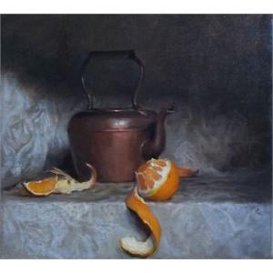 Still Life with Orange Peel