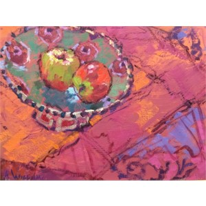 Two Apples & Bowl in Provence