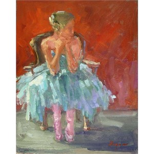 Seated Dancer, Olga in Blue