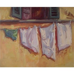 Tuscan Laundry Day