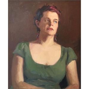Stephanie in Green (A Portrait Study)