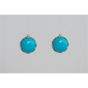 Round Sleeping Beauty Turquoise Drops