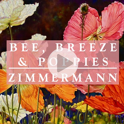 Video - Bee, Breeze & Poppies by Caroline Zimmermann