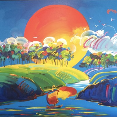 Peter Max in Key West at Key West Gallery