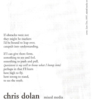 Chris Dolan: Persisting in Presence