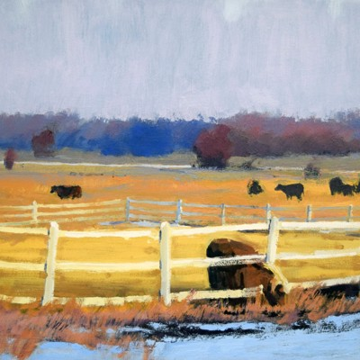 Featured Piece: Enjoying a Fall Evening with the Neighbors