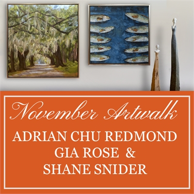 November Artwalk: Adrian Chu Redmond, Gia Rose & Shane Snider