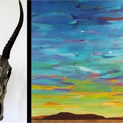 Formed by Nature: Landscape paintings by Mark Bowles/ Beaded Skulls by Ali Launer