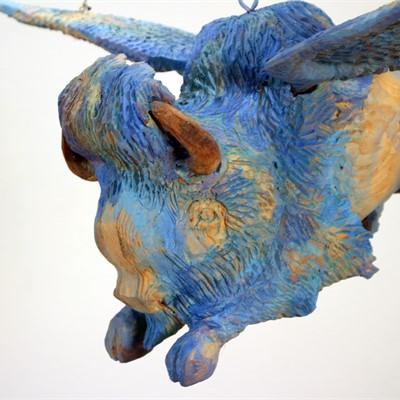 Armond Lara | Flying Blue Buffalo Installation