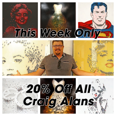 Craig Alan: Normally 0% Off, Now 20% Off All His Work!
